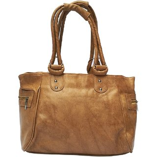 Bizarre Vogue Stylish Partywear Handbag for Women's  Girls (Brown)