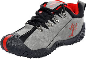 Birdy Pasco Men'S Grey Red Casual Shoes