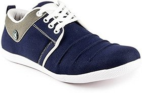Clymb Men's Blue Lace-up Sneakers