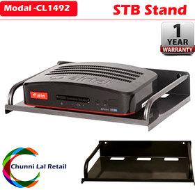 Set Top Metal Box Wifi Telephone Wall Mount Bracket / Stand
