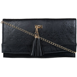 Adine Black Embellished Handbag