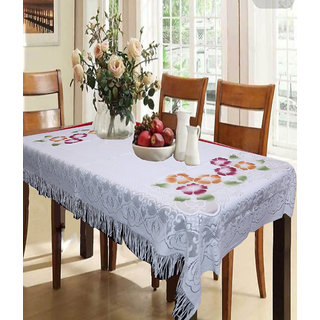 Vivek Homesaaz Designer Dining Table Cover Net Fabric 60X90 Inches
