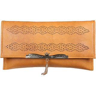 Adine Tan Embellished Handbag
