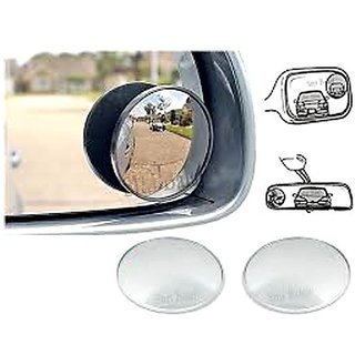 AutoRight - Car Blind Spot Convex Rear View Mirror Chrome Corners