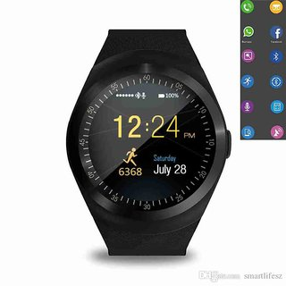Y1 Smart Watch Round Support Nano SIM TF Card With Bluetooth 3.0 Men Women  Business Smartwatch f591c74a6813