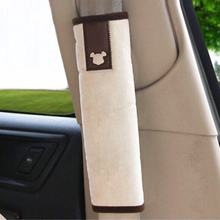 Futaba Cute Coca Bear Car Seat Belt Protection Cushion - One Pair