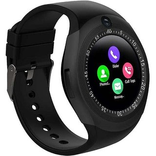 Y1 Smart Bluetooth Smart Watch Wear Phone Mate SIM Card Round Touch Screen for Android 32MB+32MB Capacitive Touch Panel