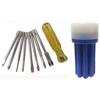 Multipurpose Screwdriver With Line Tester & Extension Rod 8 In 1 Tool Kit.