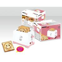 Toaster 2 Slice Pop Up Happy Moments With Smiley Logo