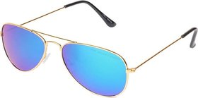 Wrode Avtrgldblumrcy Blue Mirrored Aviator Sunglasses