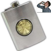 08 Oz STAINLESS STEEL Drinks Hip Pocket Wine Flask Screw Cap - 55