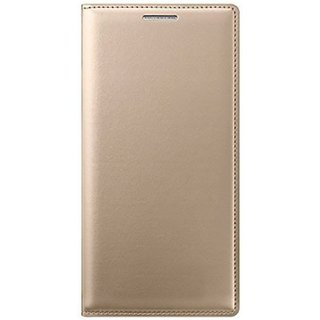 Micromax Bharat 2 Q402 Flip Cover  - Golden