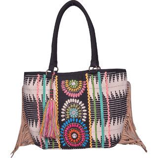 Black Beads Hand Bag