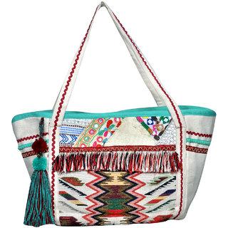 White Heritage Hand Bag