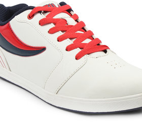 Fila Mens Quincey Wht/Nvy/Rd Lifestyle Shoes