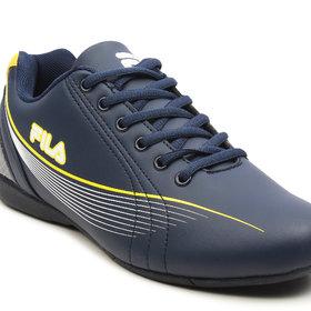 Fila Mens Cross 2 Nvy/Yel Lifestyle Shoes