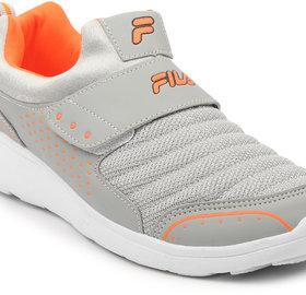 Fila Mens Smash Lite V Lt Gry/Org Lifestyle Shoes