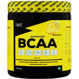 Healthvit Fitness BCAA 6000, 200g Powder (Pineapple) Pre/Post Workout Supplement