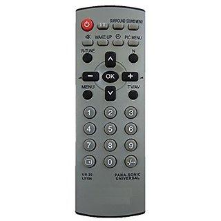 LipiWorld UN-20 LX104 Universal Remote Control Compatible For Panasonic CRT TV
