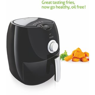 Glen Kitchen GL 3044 Air Fryer (Black) - 2 Year Warranty - Upto 80 Less Fat Cooking Capacity 2.8 litres 1350 Watt