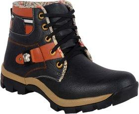 1AAROW 089 mens black hiking boots