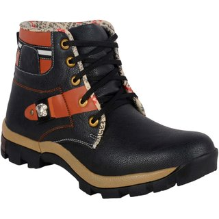 1AAROW 089 mens black hiking boots