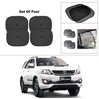 AutoStark Car Window Sunshades And Easy to install (Black) ForToyota Fortuner