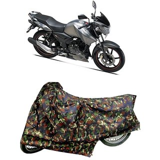 De AutoCare Premium Quality Junglee Matty Two Wheeler Bike Body Cover For TVS Apache RTR 160