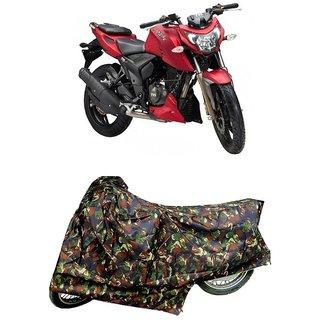 De AutoCare Premium Quality Junglee Matty Two Wheeler Bike Body Cover For TVS Apache RTR 200