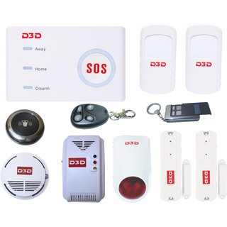 D3D WIRELESS Wi-Fi/ GSM AUTODIAL SMS HOME HOUSE OFFICE SECURITY BURGLAR INTRUDER FIRE AND GAS ALARM