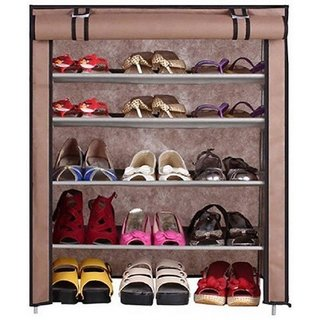 shoe rack 4layer crobat(brown)-99.8