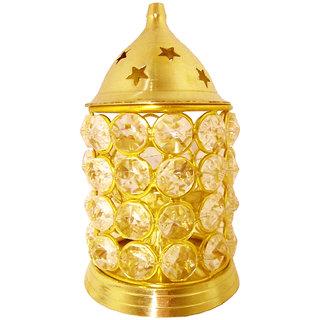 Decorate India Medium Crystal Akhand Diya Diamond Nag Deep Dia 5.5inch