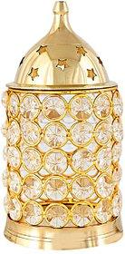 Decorate India Large Brass Akhand Diya With Diamond Nag Deep Diya 6 inch
