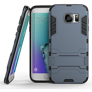 Samsung Galaxy S7 Edge  , Dream2Cool Tough military Grade Version 3.0 IronMan design Armor Defender Series Dual Protection Layer Hybrid TPU + PC Kickstand Kick Stand Case Cover for Samsung Galaxy S7 Edge - Blue