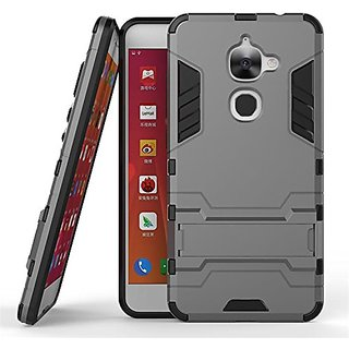 Dream2Cool Kick Stand Version 3.0 Hard Bumper Back Case Cover For LeTv LeEco Le 2s - Metal Grey