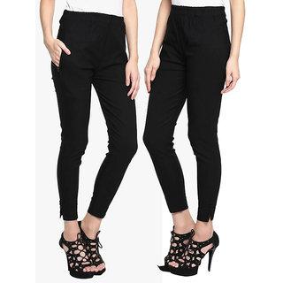 Riya Black colour xl size cotton pant trousers for women