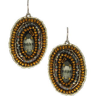 Anuradha Art Brown Colour Classy Handmade Designer Party Wear Fancy Long Earrings For Women/Girls