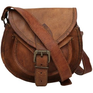 0b69246e7adf Buy znt leather bag Alvira Genuine Leather Women s Cross Body Bag Brown  58-1300 ( 7 x 5 Inch) Online - Get 81% Off