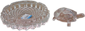 NoVowels Crystal Tortoise with Plate 6Inch for Luck and Gift Purpose