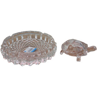NoVowels Crystal Tortoise with Plate 3Inch for Luck and Gift Purpose