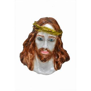 NoVowels Marble Hanging Jesus Head 18cm