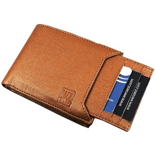 WENZEST Men Tan Artificial Leather Wallet (6 Card Slots)
