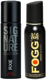 Axe Signature And Fogg Fresh Deo Deodorants Body Spray For Men - Pack of 2 Pcs