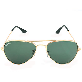 20dfb73a01bf Wrode Green Aviator Sunglasses for men and women (Golden Frame with  Gradient Lens)