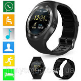 Y1 Smart Watch Round Wrisbrand Android use 2G SIM card Intelligent mobile phone Smartwatch
