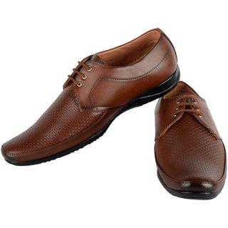 Footfit Men's Tan Formal Shoes
