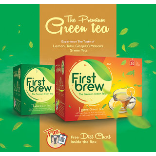First Brew Tulsi  Lemon Green Tea (Combo)