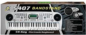 Electronic Keyboard 54 Key Musical Piano With Microphone Model 5407 (Silver)