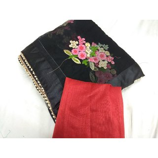black designer saree with blouse piece