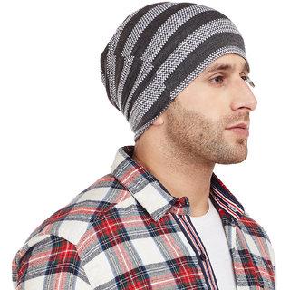 Buy Vimal-Jonney Grey Striped Cap Tshirt For Men Online - Get 75% Off 23acc67e089b